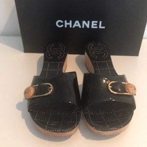 Chanel Black Patent Shoes